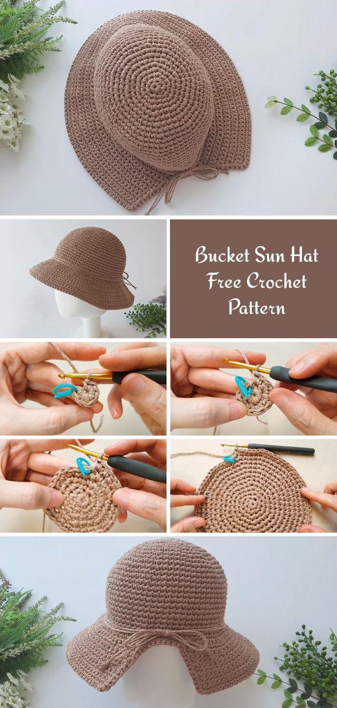 Free Bucket Hat Crochet Pattern   Crochet, Crochet hats, Crochet ...