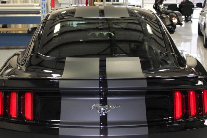 Matte Vinyl Racing Stripes Ford Mustang Zilla Wraps Vinyl