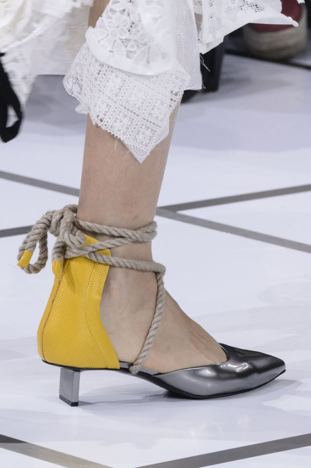 65c5627a0 <p><i>Rope tie yellow and silver heels from the SS18 Sacai collection.  (Photo: ImaxTree) </i></p>