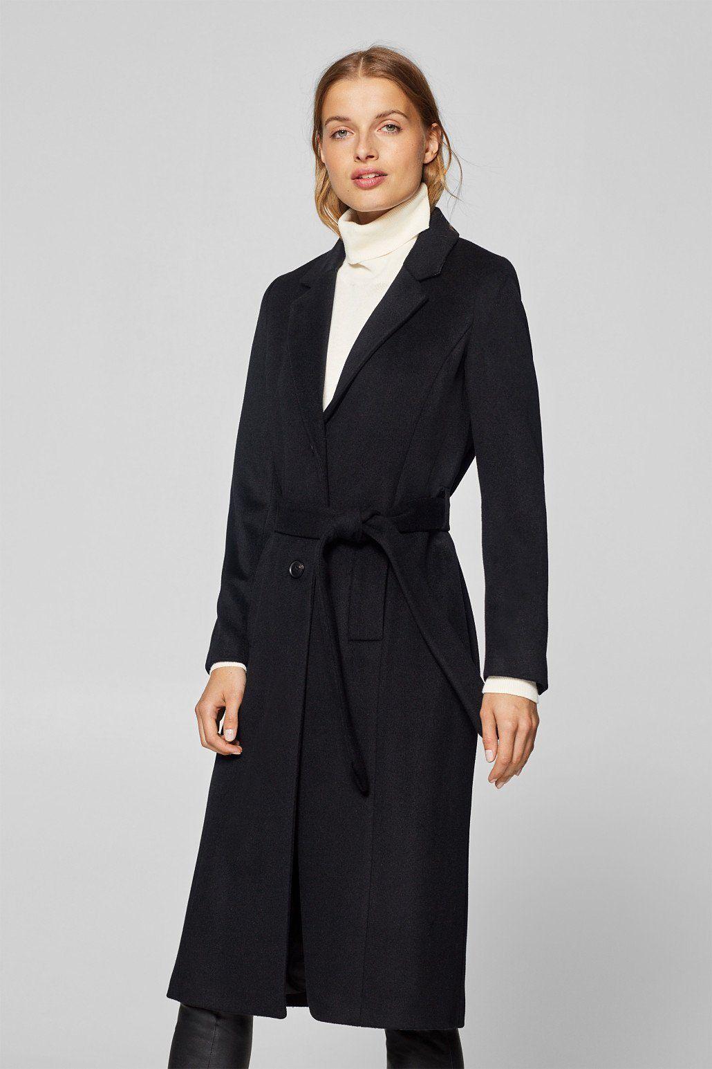 OTTO Damen Esprit Collection Woll-Mix Kaschmir  Mantel mit Gürtel ... 65f58703c0