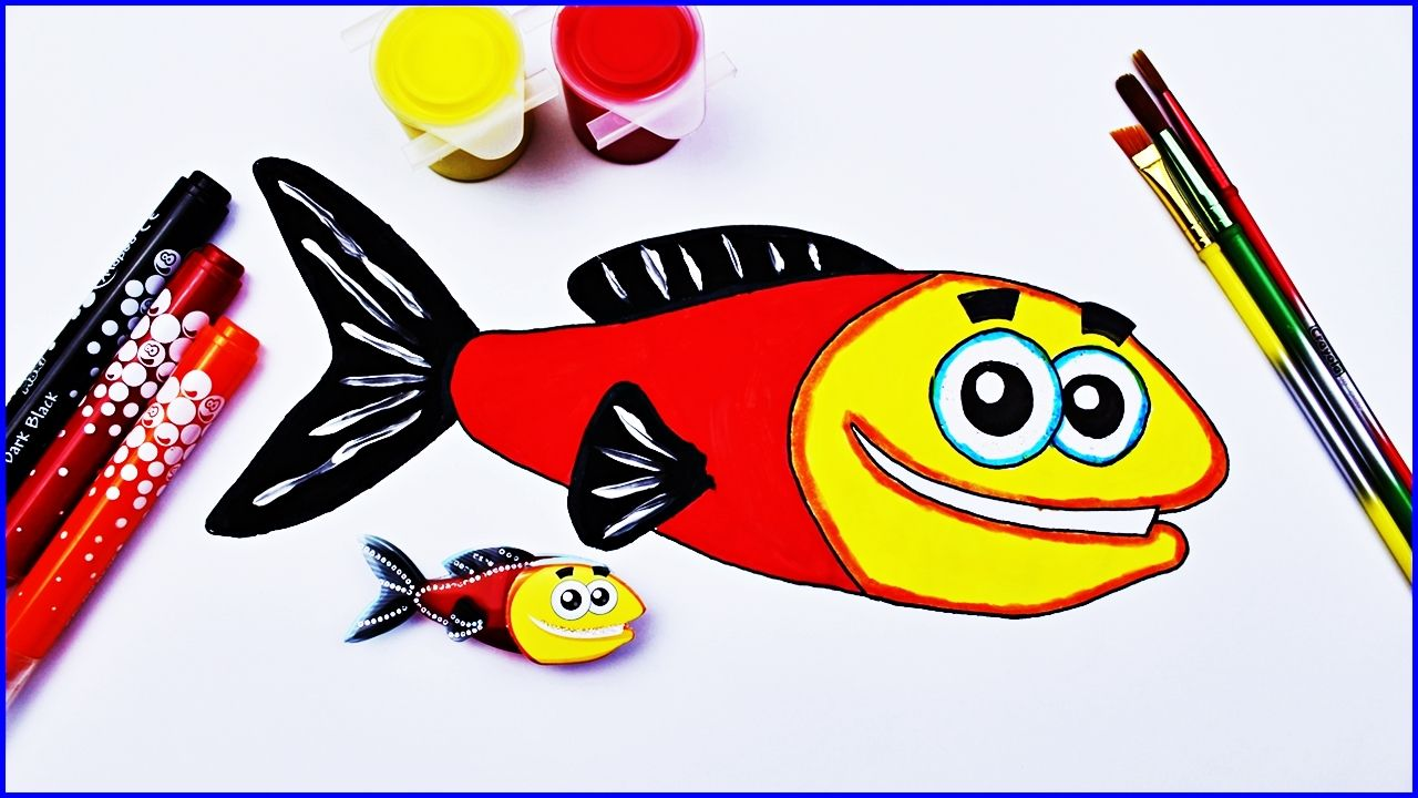 How to Coloring Fish, Fish Colouring Pages Book - Sea Animals for ...