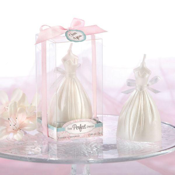 Wedding Dress Candle Bridal Shower Favor