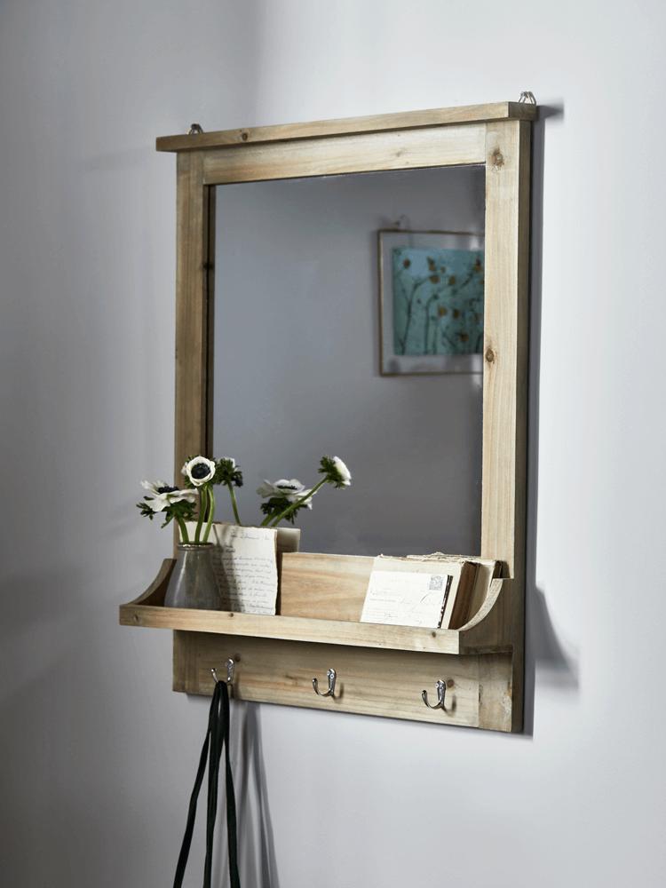 New Rustic Wooden Shelf Mirror Wall Mirrors Mirrors Rustic Wooden Shelves Wooden Shelves Wooden Mirror Frame