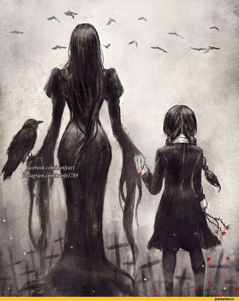 красивые картинки,Addams Family,Morticia Addams,Wednesday ...