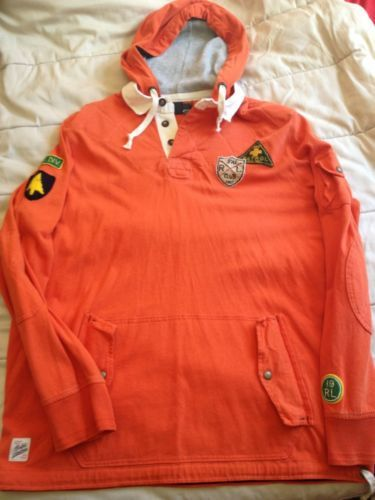 ac4272305e1 NWT Polo Ralph Lauren Ski Patrol Hooded Rugby Sweatshirt Shirt XL ...