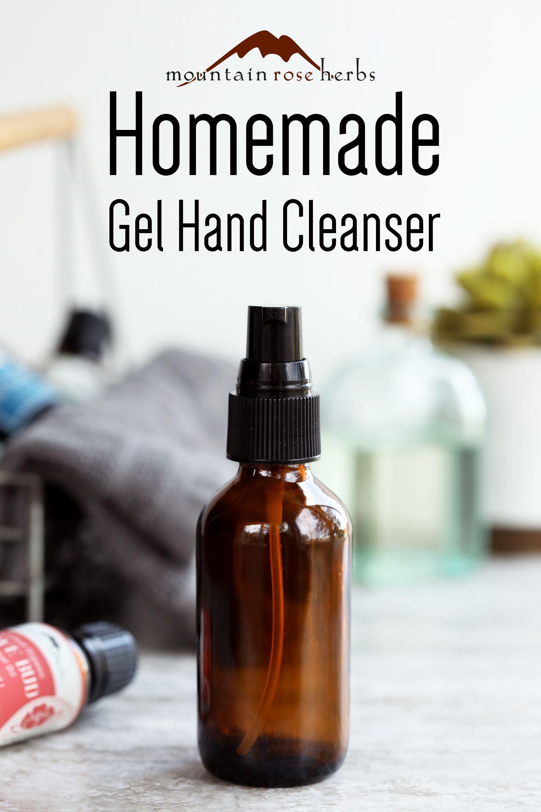 DIY Gel Hand Cleanser Recipe Recipe in 2020 Hand