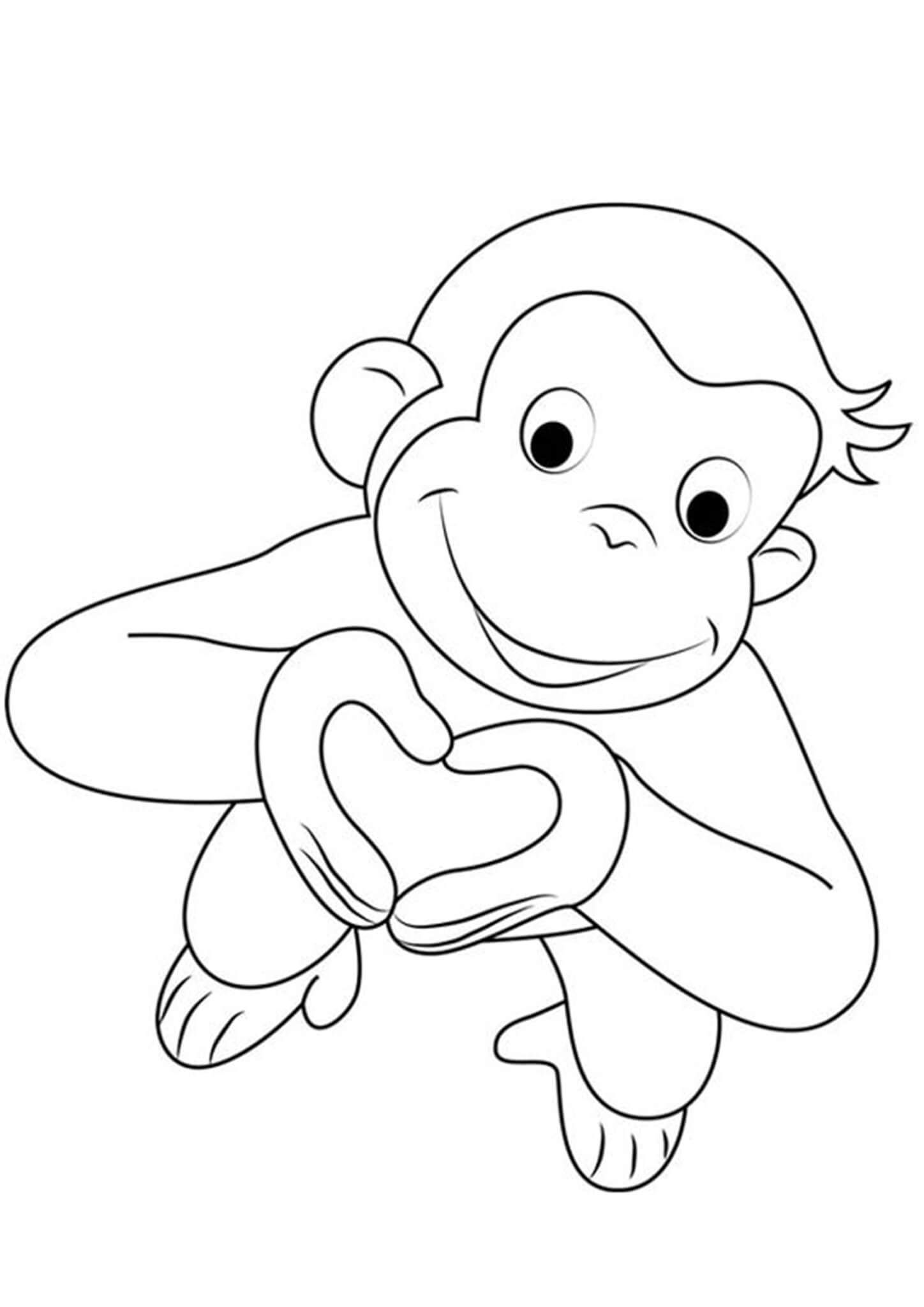 Free Easy To Print Curious George Coloring Pages In 2021 Curious George Coloring Pages Monkey Coloring Pages Valentines Day Coloring Page