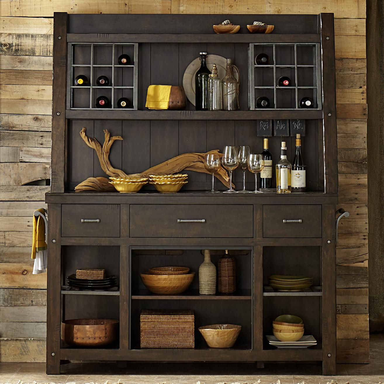 Dining Room Hutch Buffet: Rustic Dining Room Buffet And Hutch By Liberty Furniture