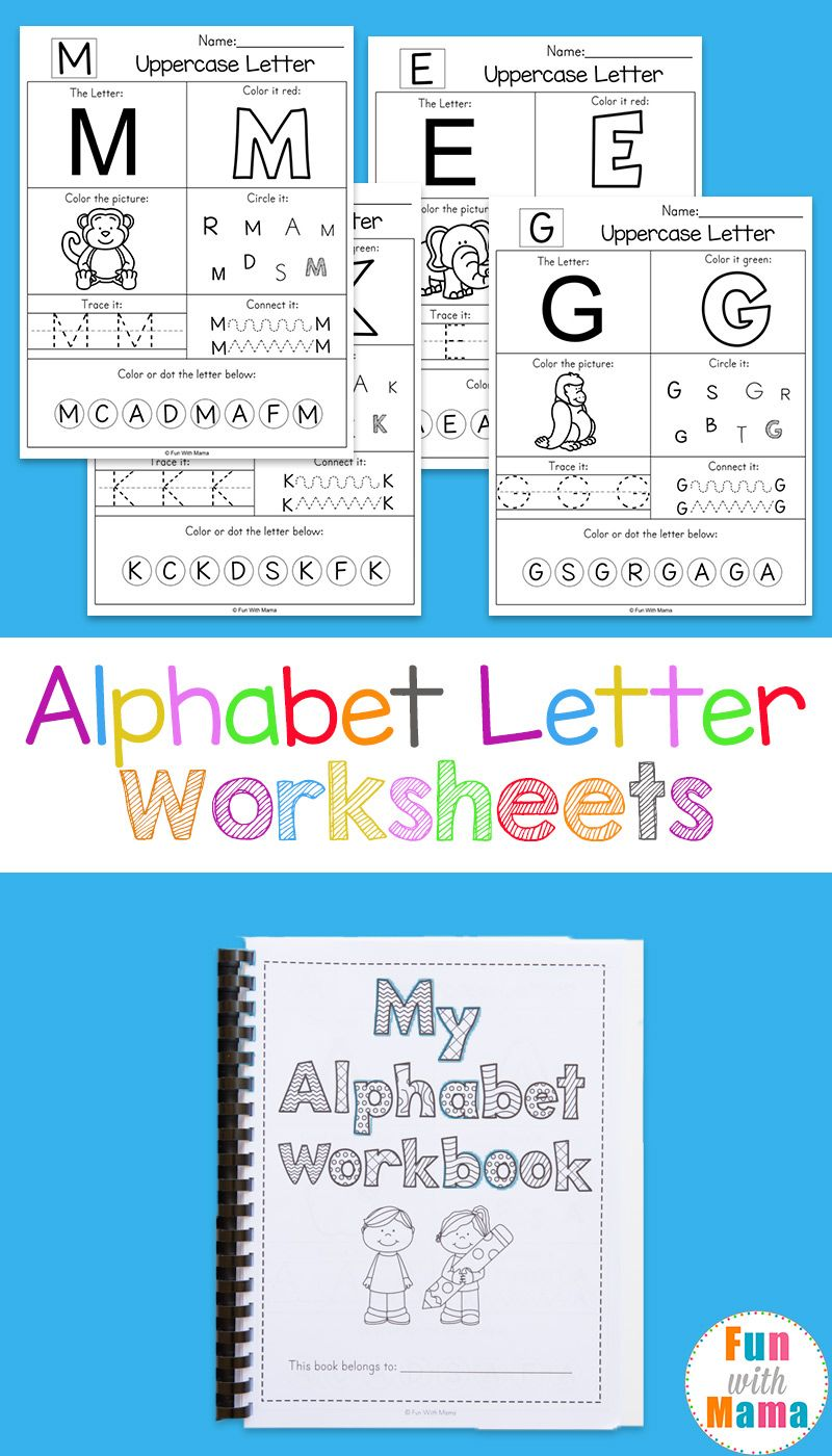 Alphabet Worksheets | Pinterest | Free printable alphabet letters ...