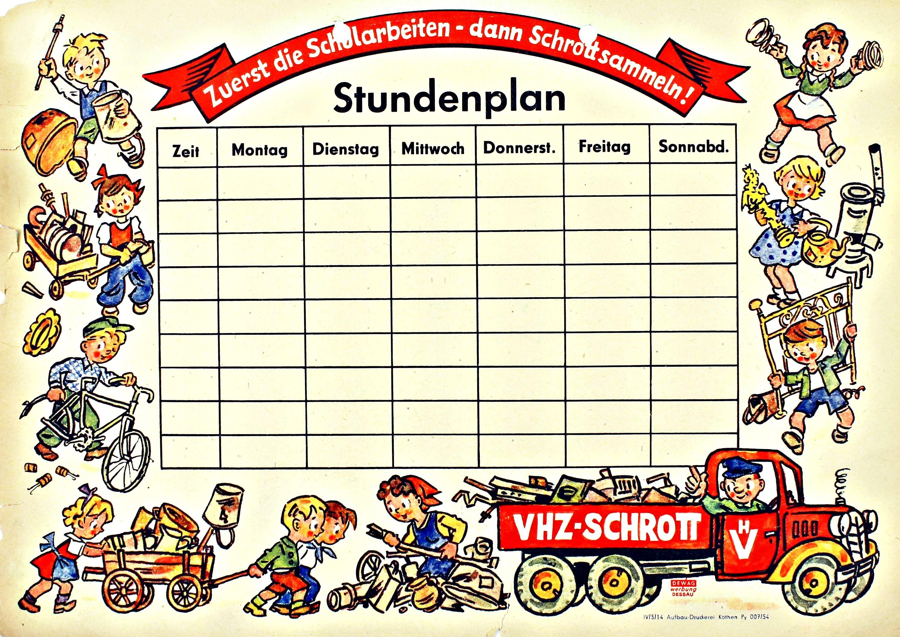 Schularbeitenplan Vorlage