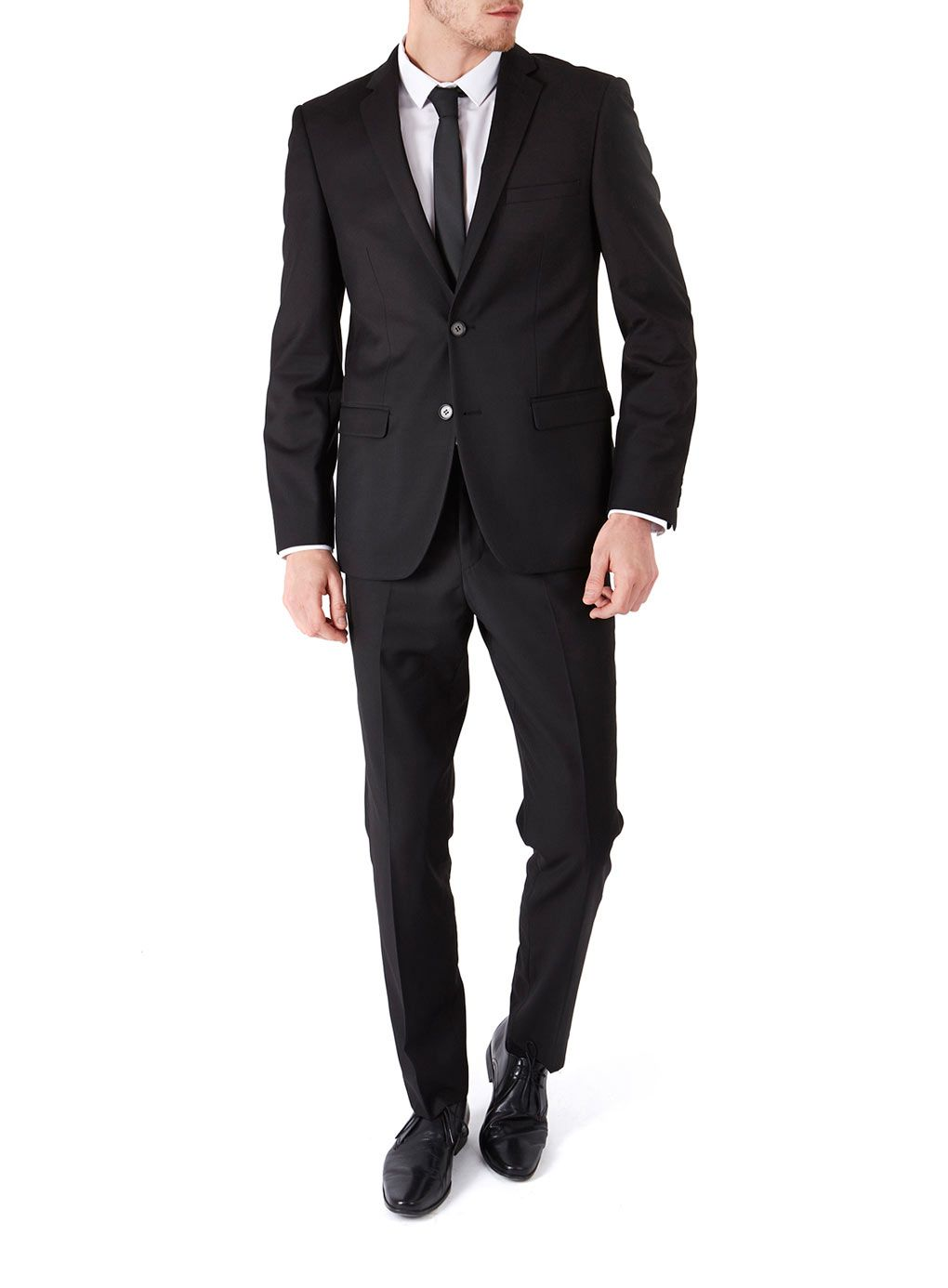2 Piece Black Plain Slim Fit Suit | Beatles, 60s, 70s. | Pinterest ...