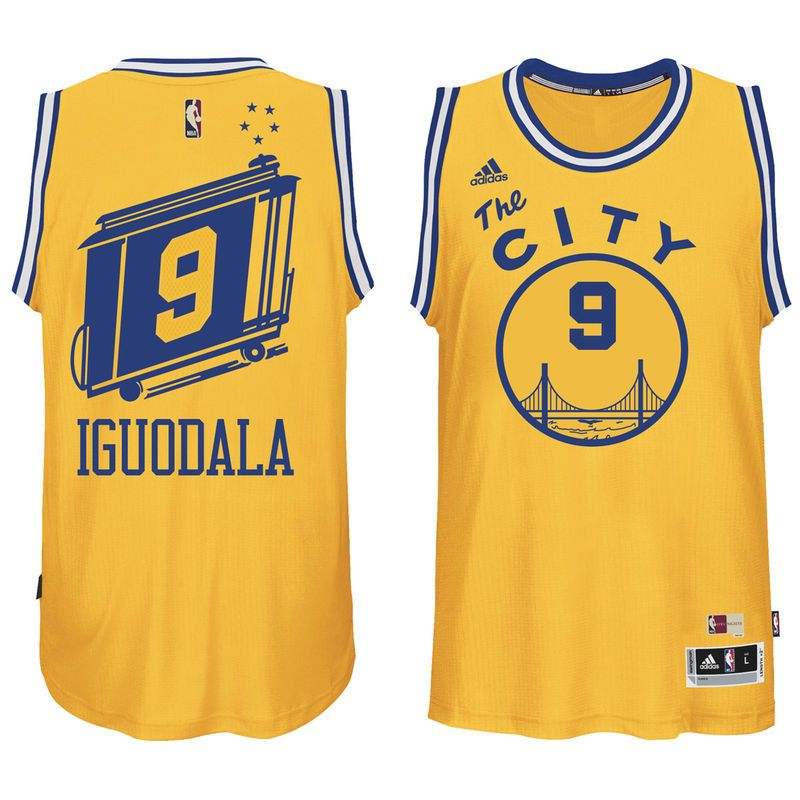 92273ab2342 ... free shipping andre iguodala golden state warriors adidas current  player hardwood classics swingman climacool jersey gold