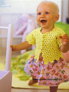 crochet crochet: yellow cardigan: diagram only