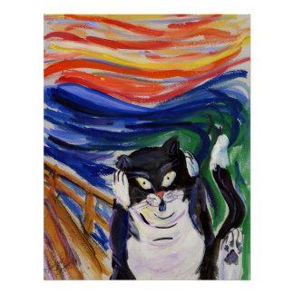 Kitty Scream Poster