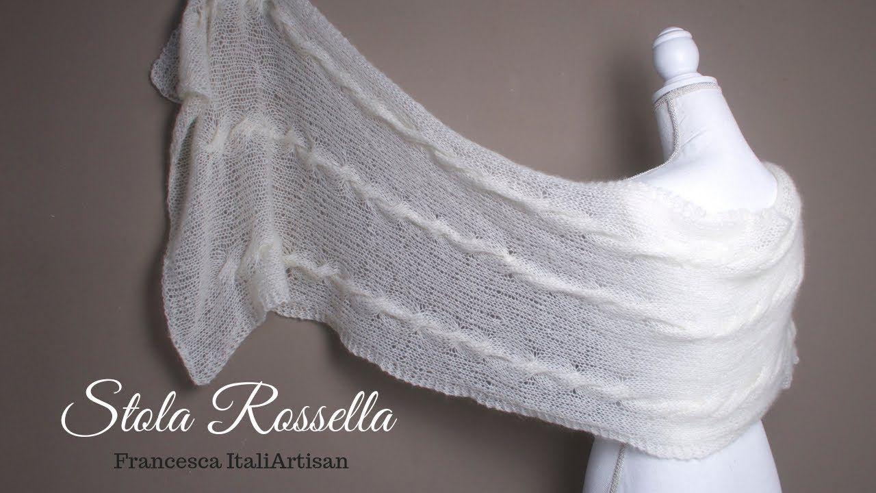 Photo of Stola Rossella – Tutorial Ferri – Sciarpa / Scialle Rettangolare in Kind Mohair, #ferri #Kid #m …