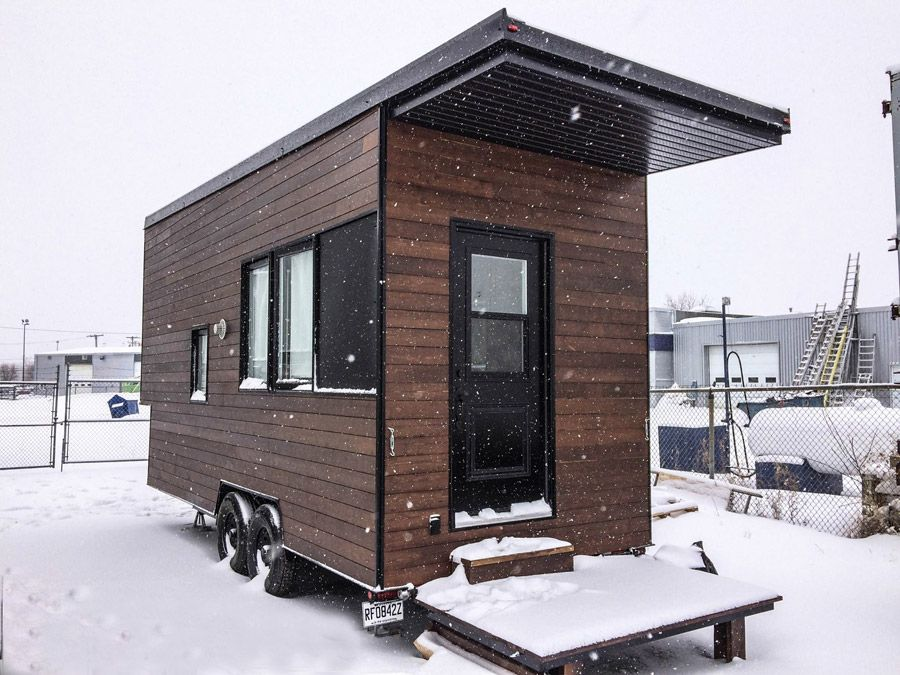 A modern tiny house on wheels in quebec canada designed built and shared by minimaliste - The modern tiny house ...