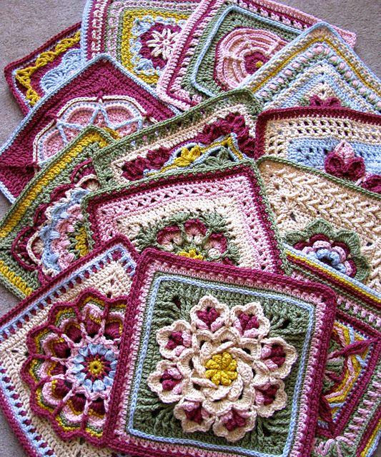 Ravelry: dakotastamper\'s William Morris Swap | Granny square ...