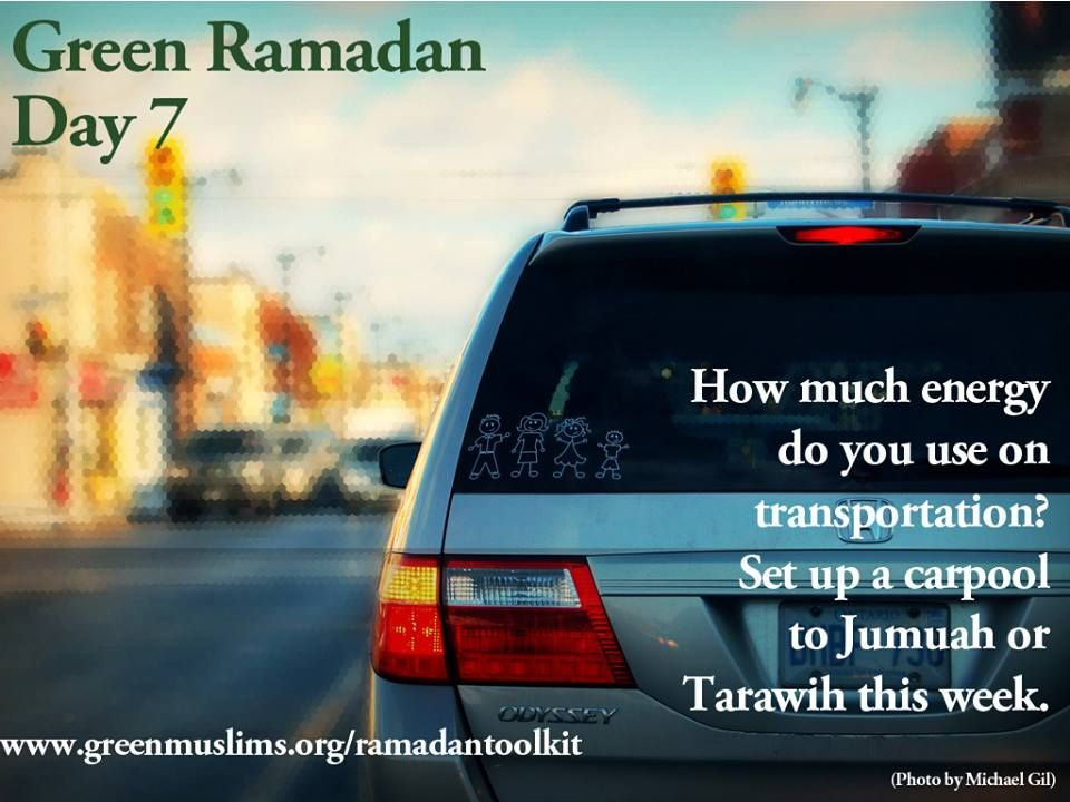 www.greenmuslims.org share some great resources and ideas for Muslims. Green your Ramadaan!! :)