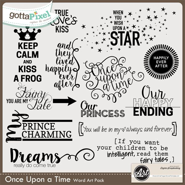 Once Upon A Time Words: Once Upon A Time Word Art