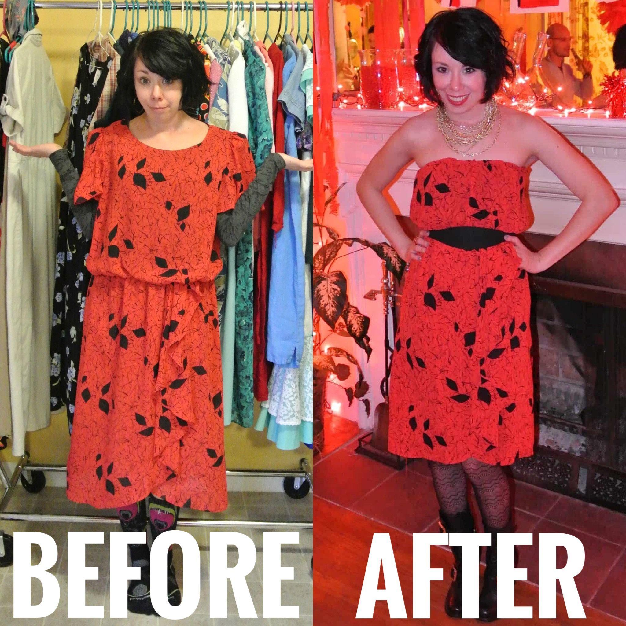A Strapless Dress Diy A Breakup Refashionista In 2020 Diy Dress Cute Strapless Dresses Dresses