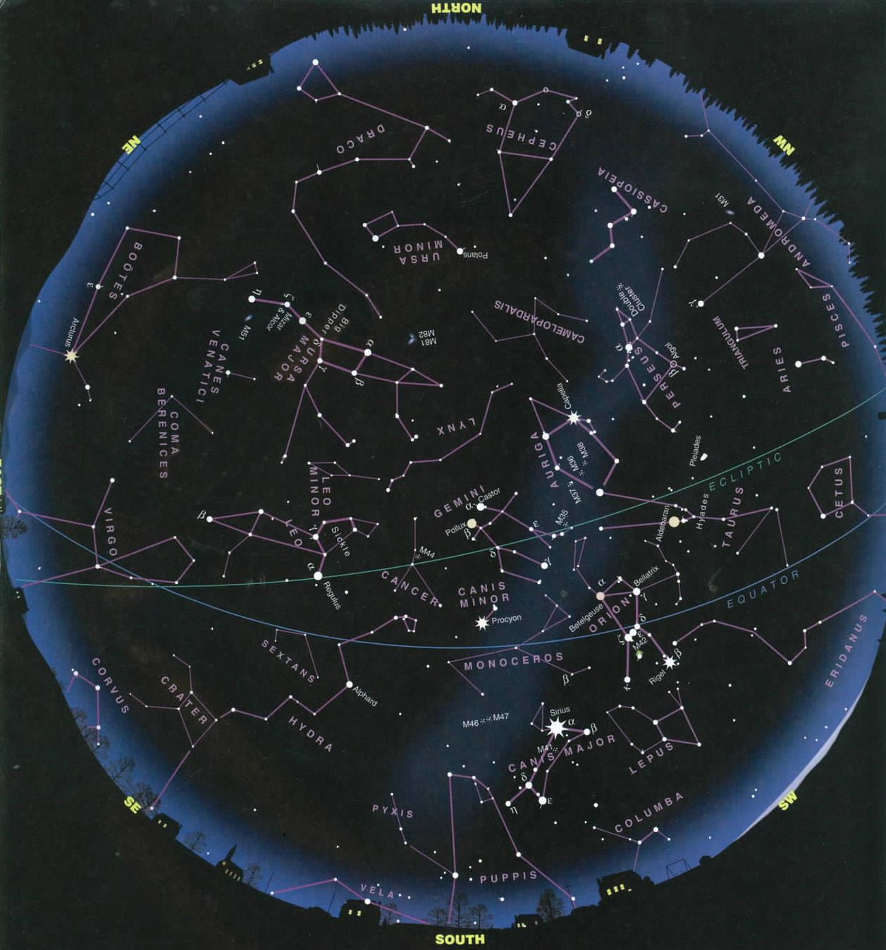Night Sky Constellations Northern Hemisphere Star Gazing What To - Night sky map northern hemisphere