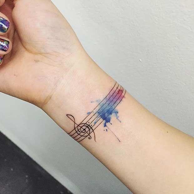 Tatuajes De Acuarela Para Mujeres 5 Piercing Tattoo Tatuaje