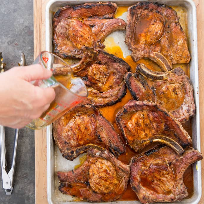 Monroe County-Style Pork Chops | Cook's Country #grilledporkchops