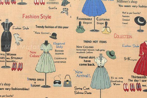 Fashion Show in Small Print  by Suzuko Koseki for  Yuwa of Japan