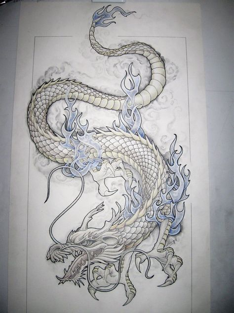 Traditional Japanese Dragon Tattoos for women | dragon tattoo design by tattoo design designs interfaces tattoo design ...