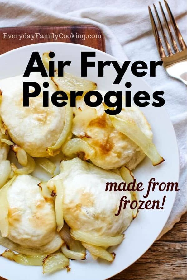The best air fryer potatoes and onions recipe. Use pierogies with onions for a quick family meal. It's so easy to make in your air fryer machine. The pierogies are crispy and the sautéed onions blend perfectly.