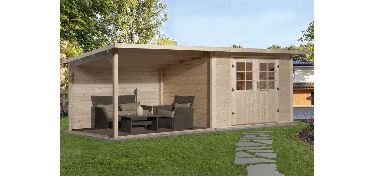 Weka dřevěný zahradní domek Como 295 cm x 300 cm s velkým