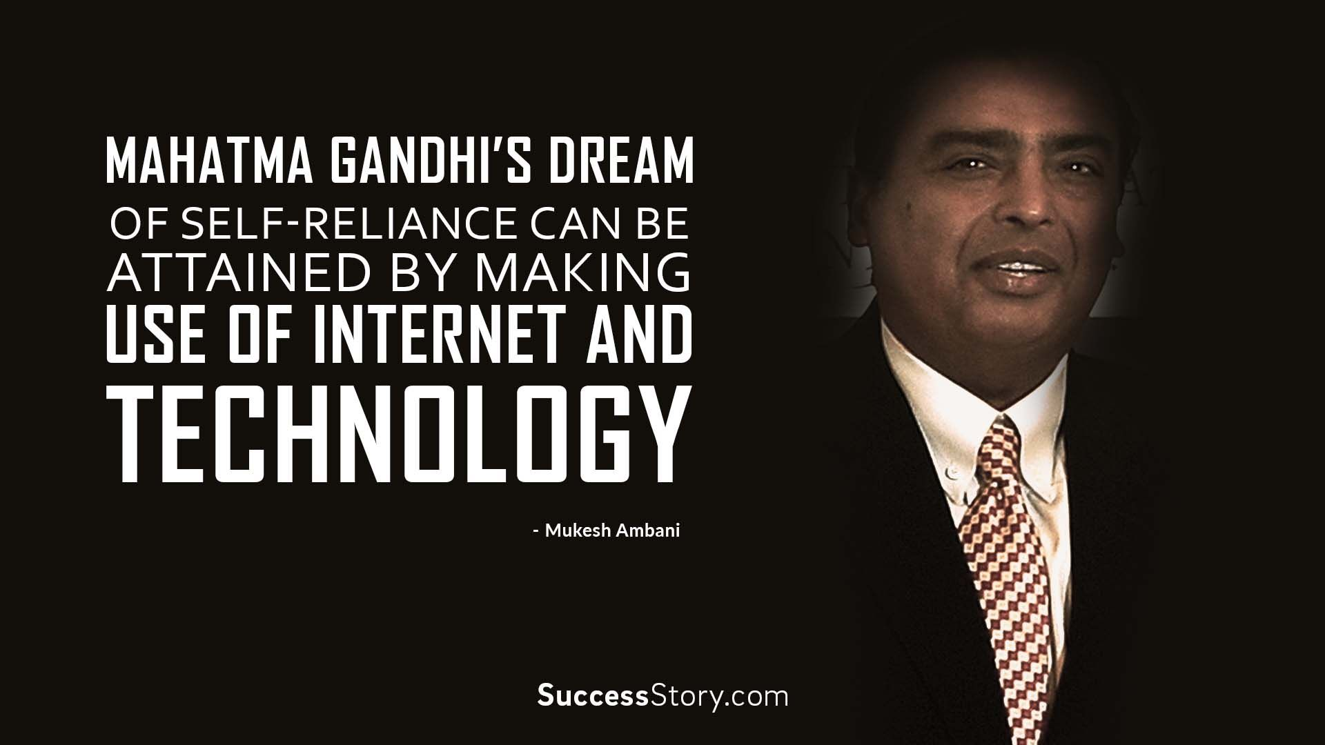 Internet Quotes Mahatma Gandhi's Dream Of Selfreliance Can Be Attainedmaking