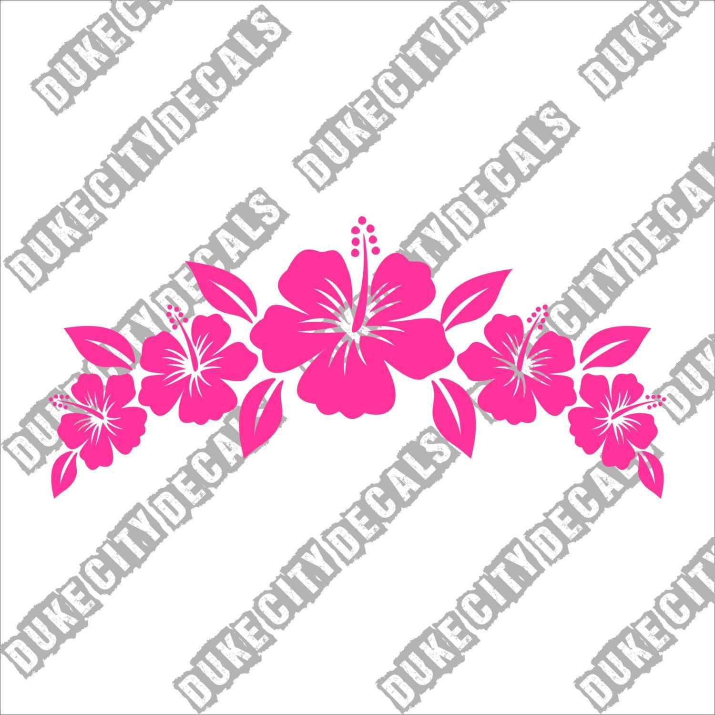 Hibiscus Flower Arch Crown Vinyl Decal Sticker Hawaii Tropical Flower Decal Vinyl Decals Hibiscus Flowers Vinyl Decal Stickers [ 1500 x 1500 Pixel ]