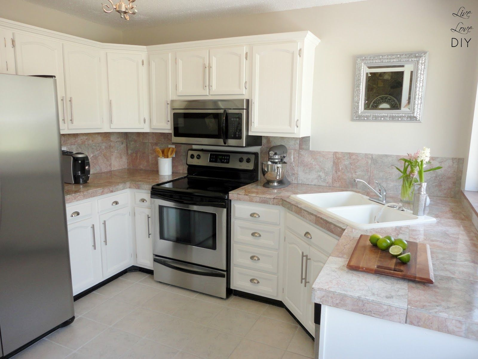 Painted White Kitchen Cabinets Design Decorating 77920 Light