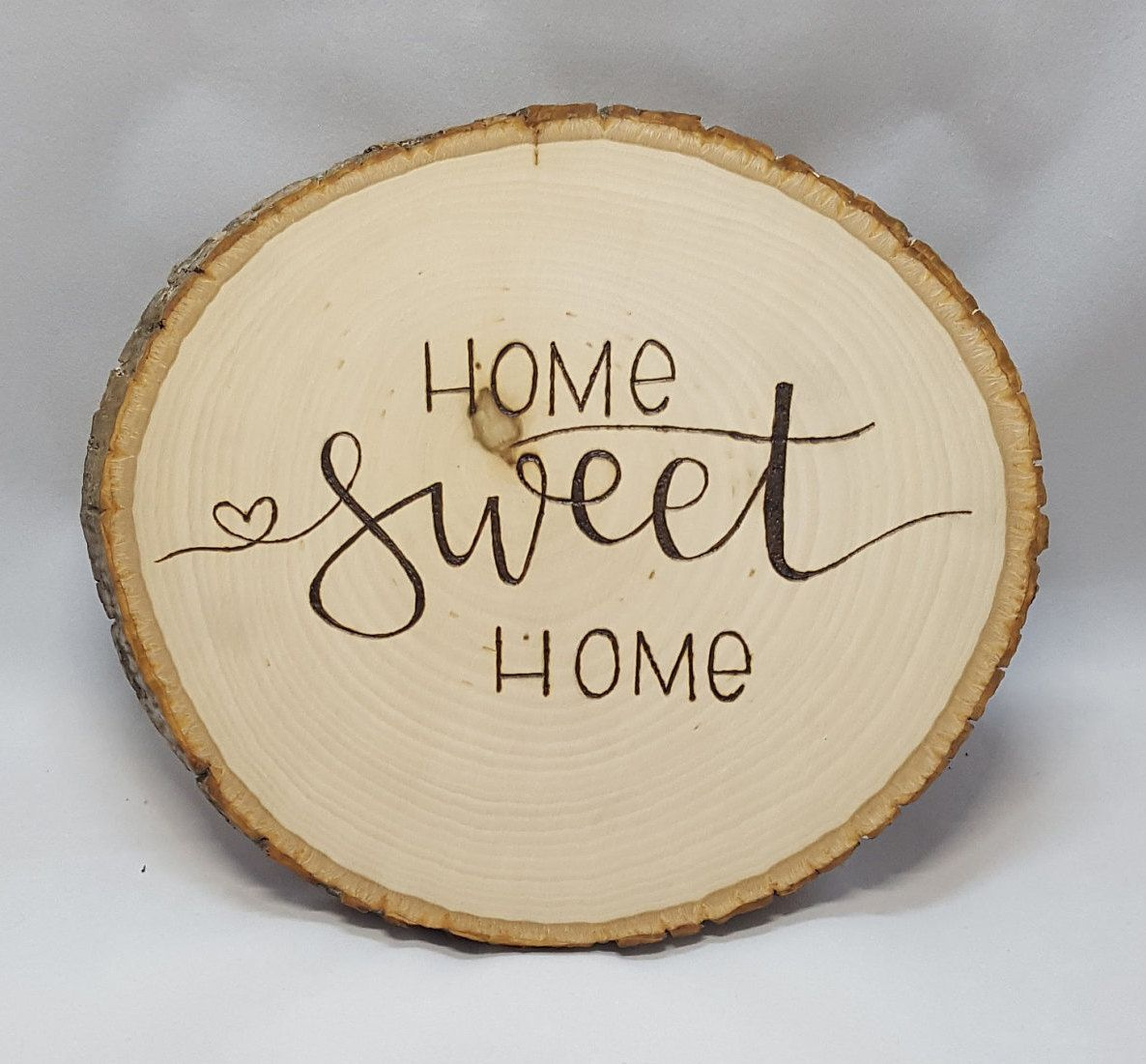 Home sweet home entrance sign tree round wall plaque wall art