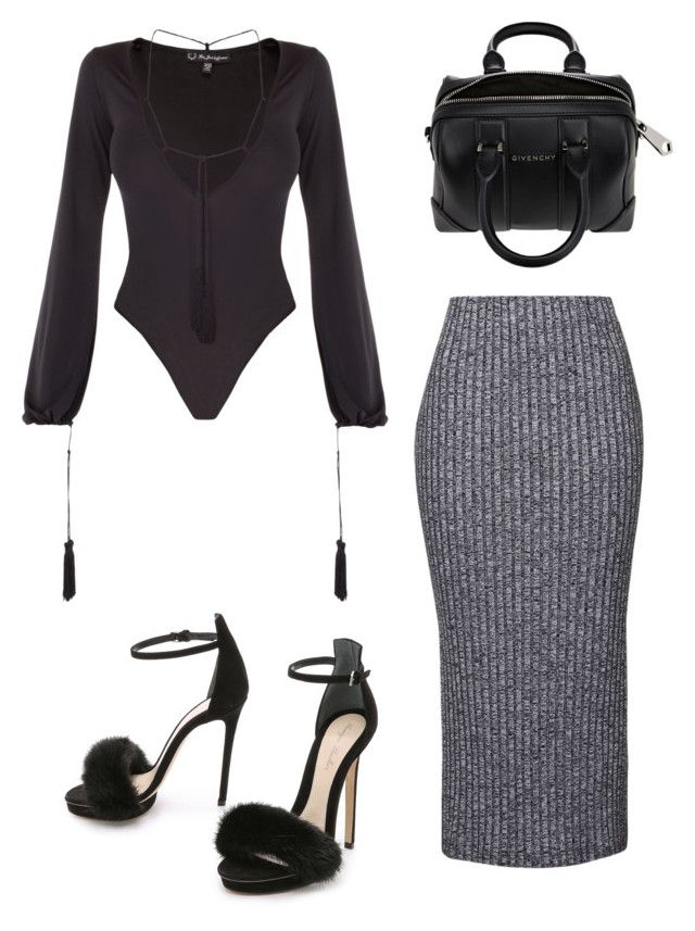 911beb990cf6 Black X grey by styledbymc on Polyvore featuring polyvore fashion style  Topshop Monique Lhuillier Givenchy women's