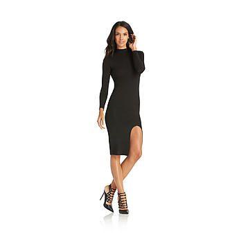 Nicki Minaj Women's High Slit Midi Dress