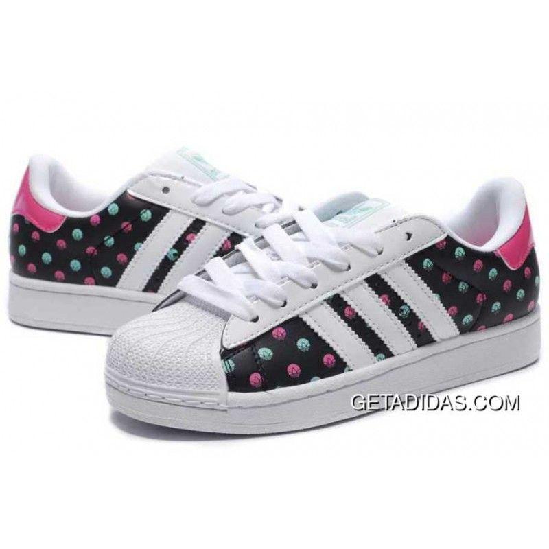 Adidas Superstar II Budget Color Dots White Black Red Limit International  Brand Plush Sensory Experience Womens