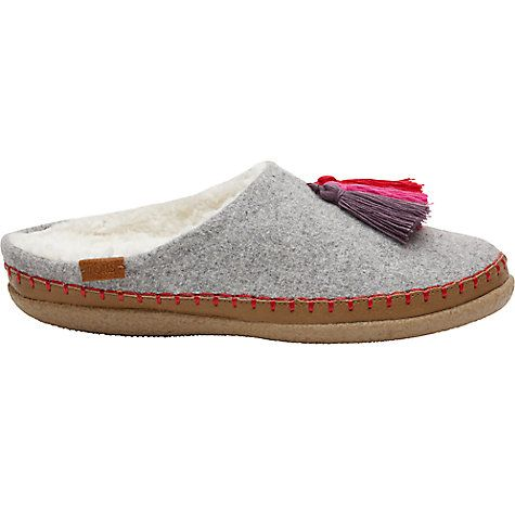 TOMS Drizzle Slippers, Grey | Greys online, Toms and John lewis