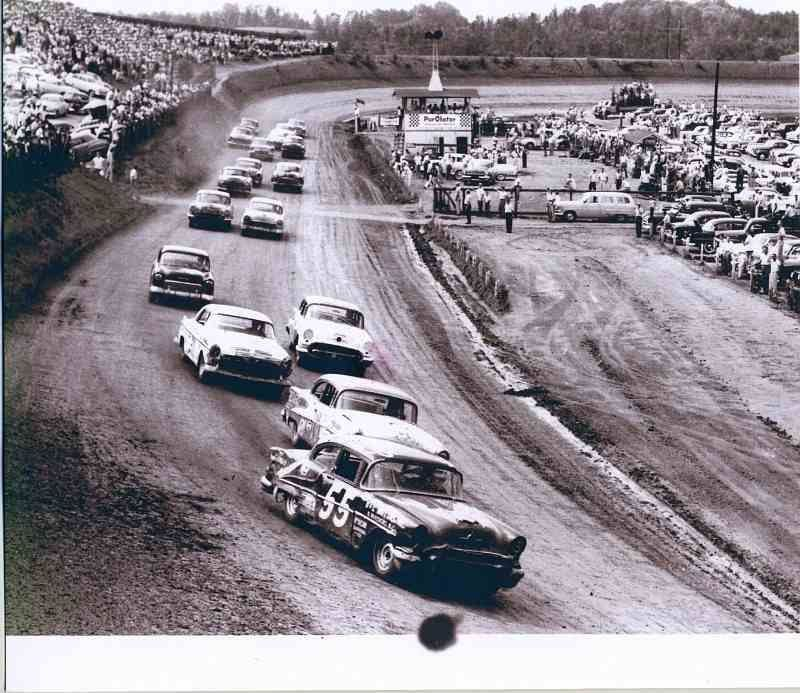 Race Track Stock Car Vintage Asheville Nascar Racing