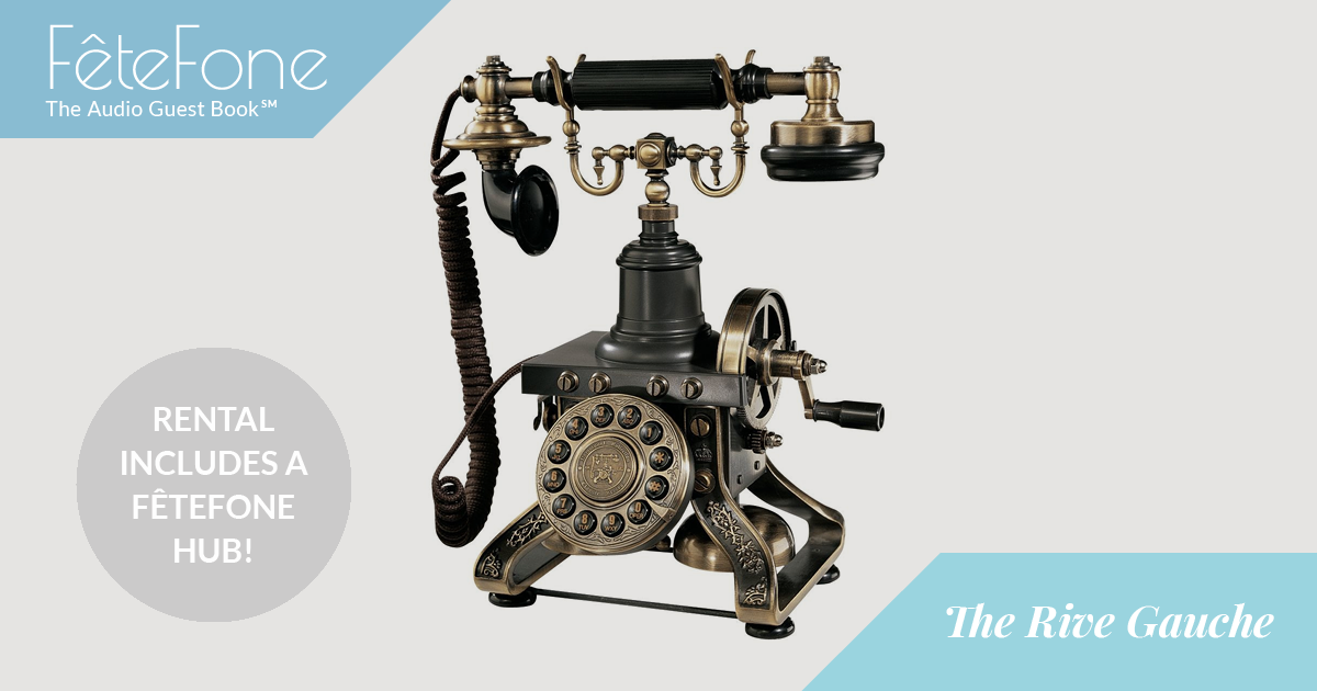 This reproduction magneto phone features a unique hand crank (not required for operation) and a contoured base that echoes the Eiffel Tower. Tres chic!