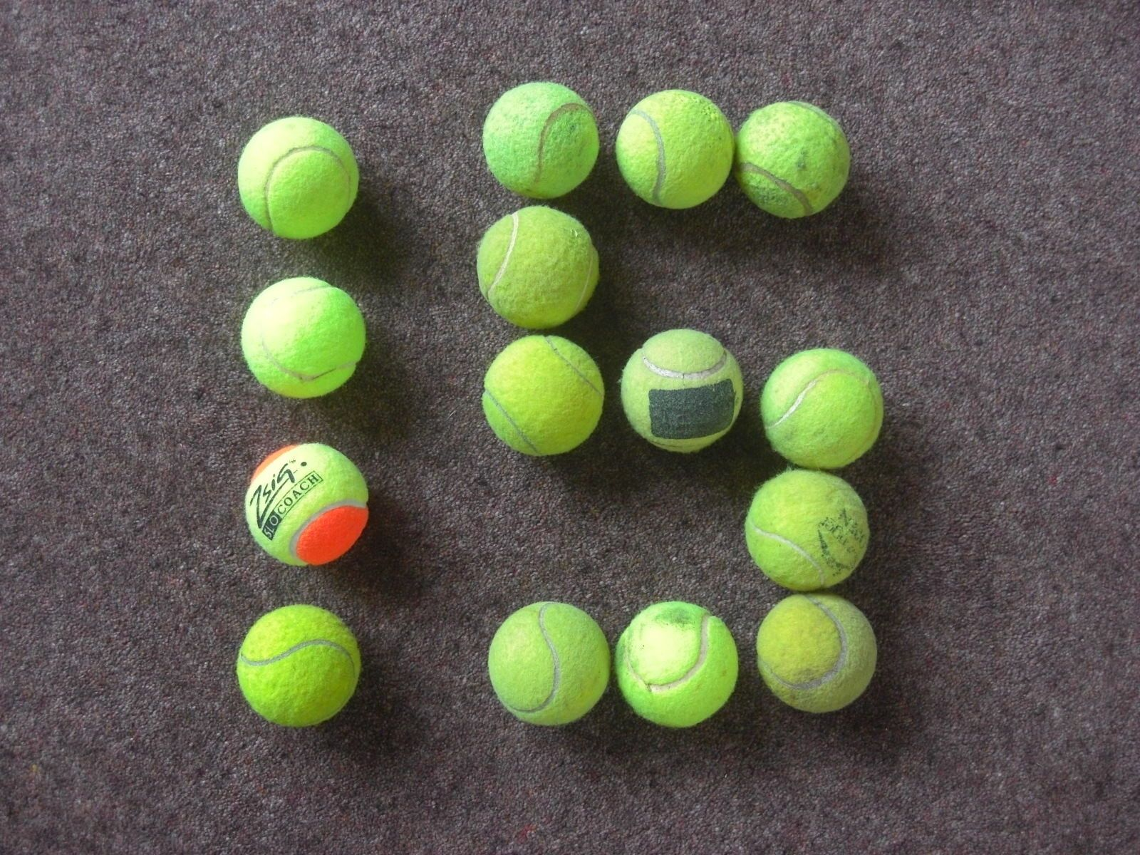 15x used tennis balls ideal for cheap dog toys pets playing
