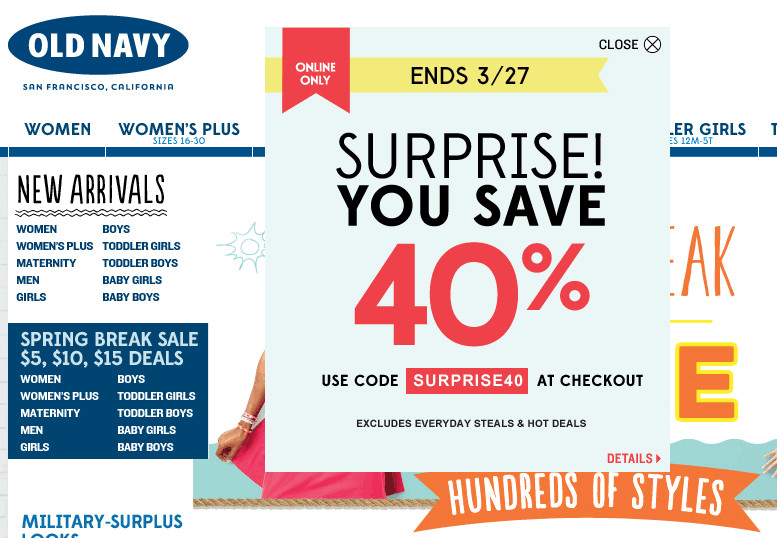 Pinned March 25th 40 Off Online At Oldnavy Via Promo Code Surprise40 Coupon Via The Coupons App Coupon Apps Old Navy Coupon Coupons