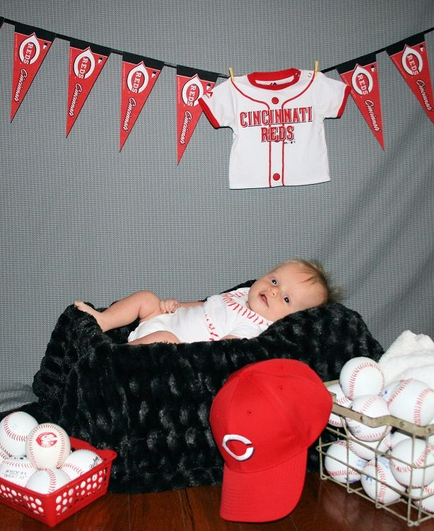 Infant Baseball Photography Cincinnati Reds