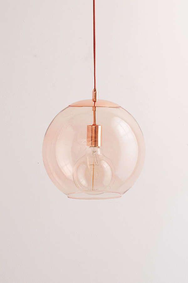Pink Globe Gl Pendant Light On Thou Swell Thouswellblog
