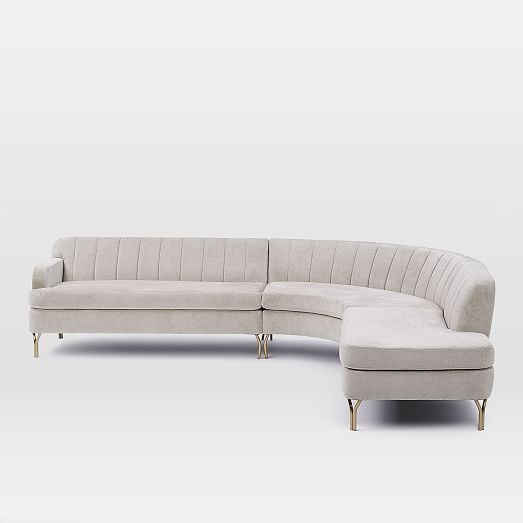 Valencia Sectional Set 1 Left Sofa Round Corner Right Terminal