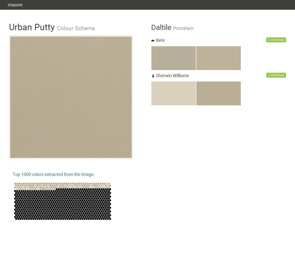 Urban Putty Colour Scheme Porcelain Daltile Behr Sherwin Williams Click The Gray Visit On To See Matching Paint Names