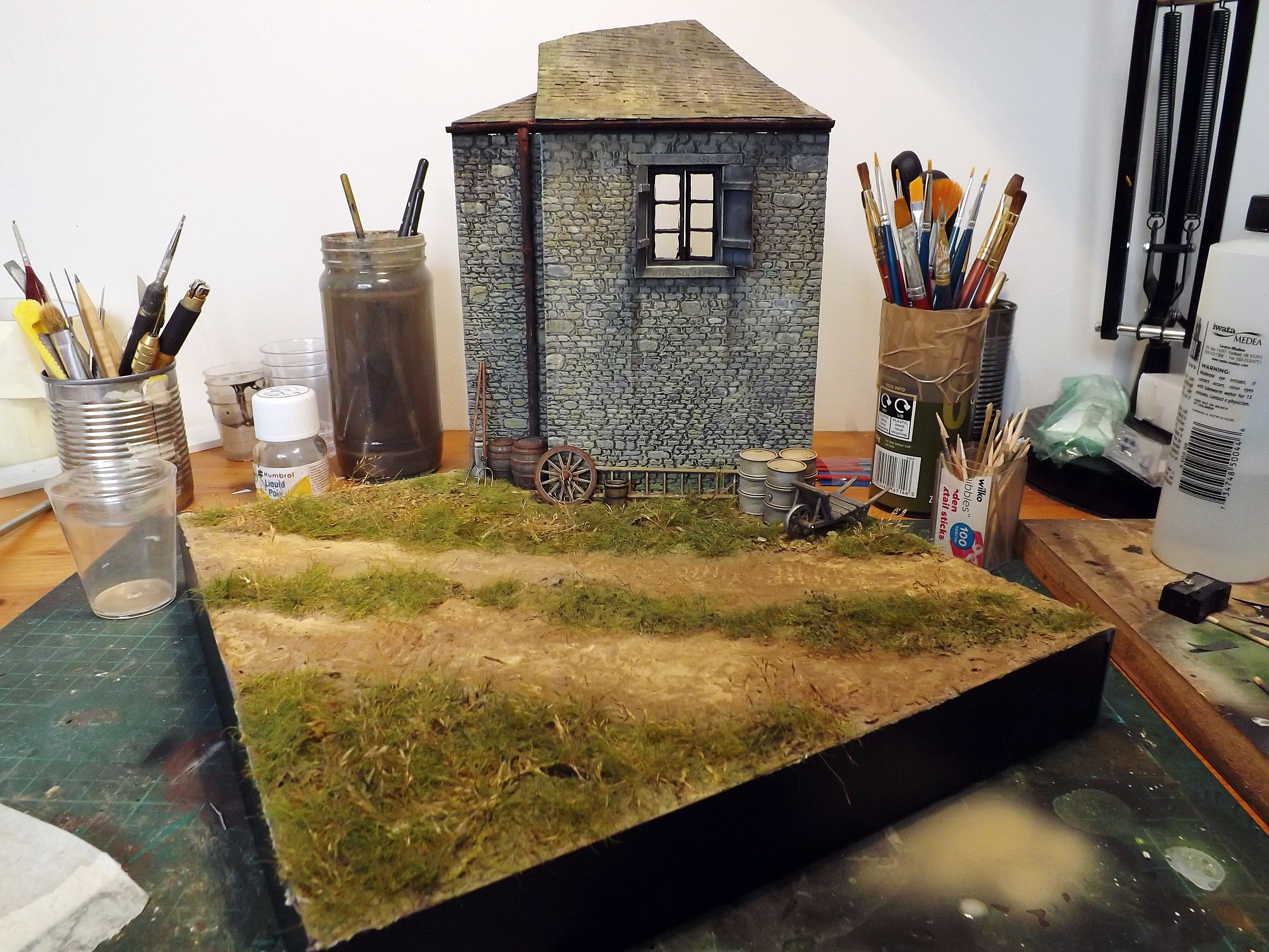 French Farm 1 35 Scale Diorama Base By Terence Young Military Diorama Farm Diorama Diorama