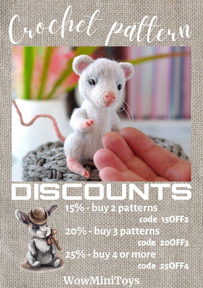 Miniature crochet toys patterns