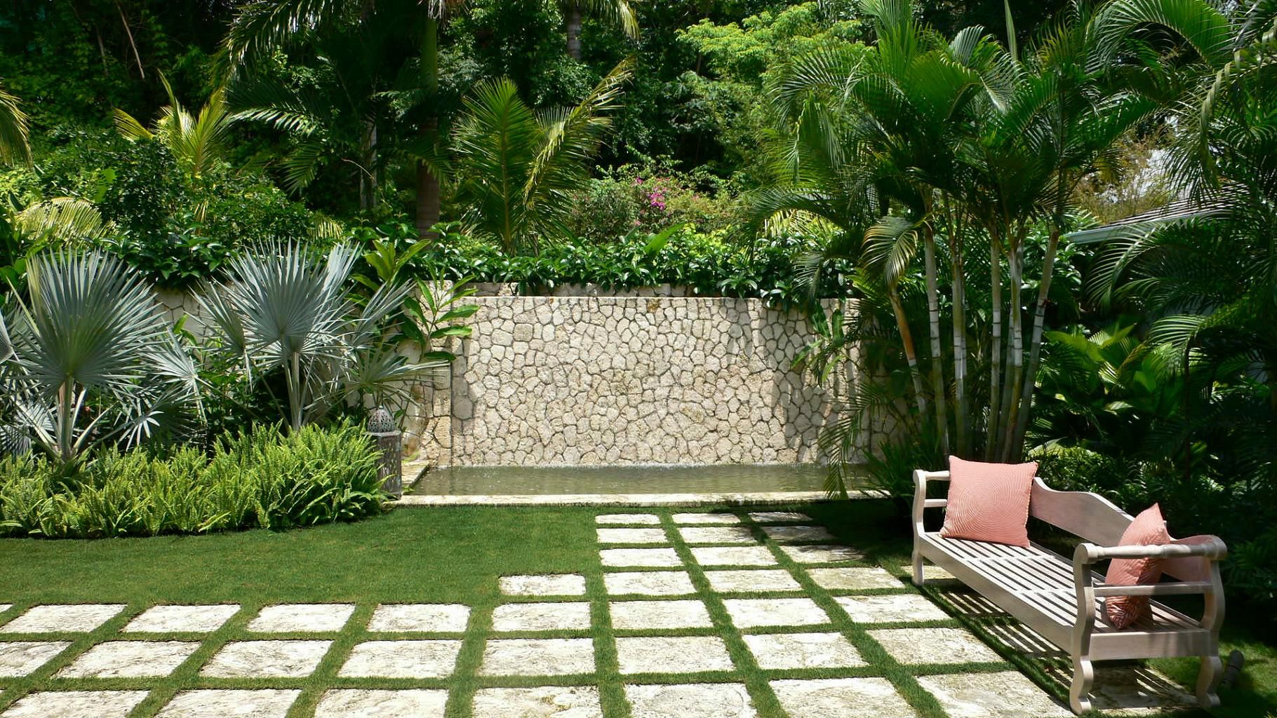 Garden Beauty Small Tropical Garden Design Ideas With Slate Paving Stepping  Stones Wonderful Backyard Pathway Ideas